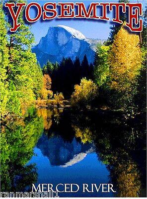 Yosemite California Winter United States America Travel Advertisement Poster 2