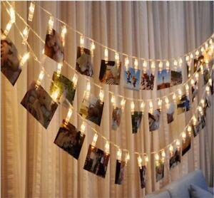 10 20 Led Batterie Lichterkette Lampe Bunt Hochzeit Weihnachten