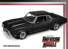 1970 Oldsmobile Cutlass SX Ebony Black 1:18 Auto World 977