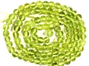 "PERIDOT 2.5-3mm Round Gemstone Beads 13.5"" strand - Great Quality A+"