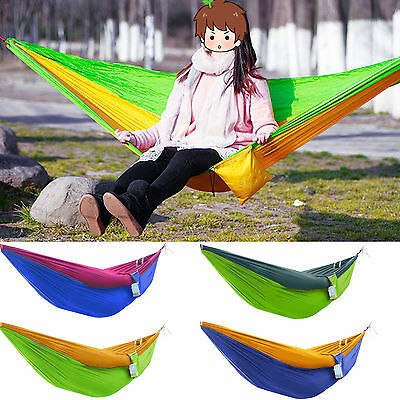 Parachute Cloth Outdoor Yard Equipment Lightweight Breathable Hammock Swing Bed