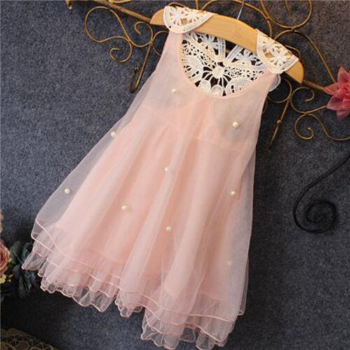 Toddler Girl Lace Tulle Tutu Dress Summer Princess Party Wedding Casual Sundress