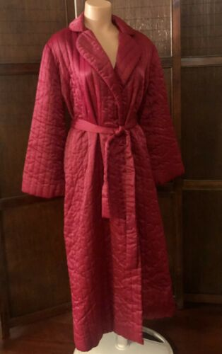 Vintage Red / Burgundy BARBIZON Quilted Robe House