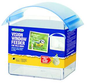 Bien éDuqué Nouveau Gardman Vision Fenêtre Feeder Plastique Clair Parfaite Petite Mangeoire à Oiseaux A01323-afficher Le Titre D'origine Et Aide à La Digestion