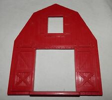 Vintage Plasticville O Scale Red Barn End Wide Door