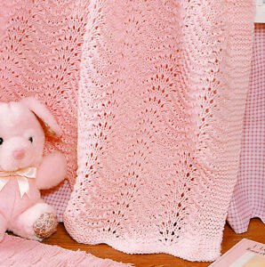 Feather And Fan Baby Knitting Patterns : Feather & Fan Wavy Baby Blanket 35