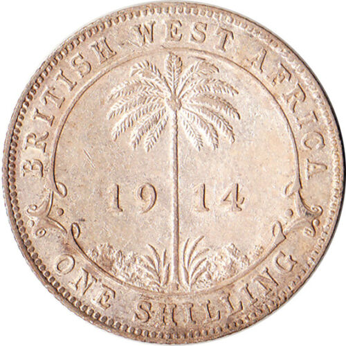 1914 West Africa (British) 1 Shilling Silver Coin KM#12