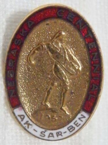 1967 Aksarben Ak-Sar-Ben Membership Lapel Pin Omaha Nebraska NE Centennial Year