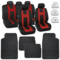 Seat Covers For Car Suv Truck Van – Black/red & All Weather Rubber Floor Mats on sale