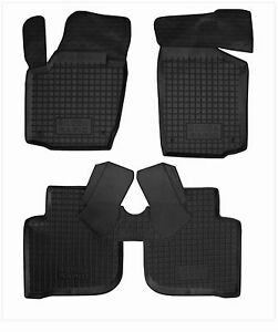 Rubber-Car-Floor-Mats-All-Weather-Alfombras-Carmats-fit-SKODA-RAPID-2012