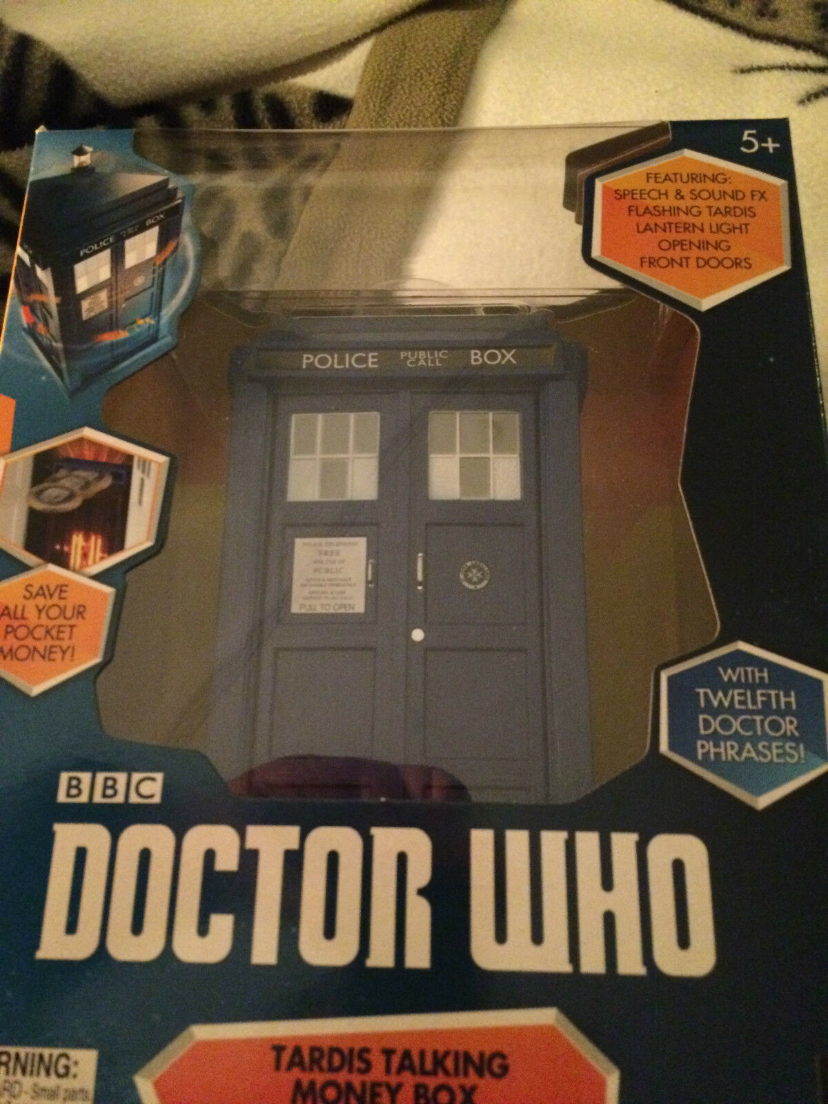 Doctor who  12th doctor tardis talking  money box