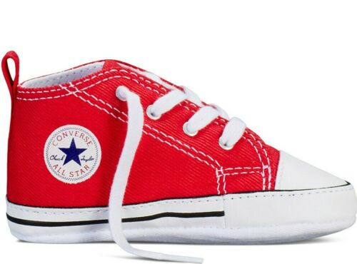 Converse Infant /& Toddler/'s Chuck Taylor FIRST STAR HI Crib Shoes Red 88875 d