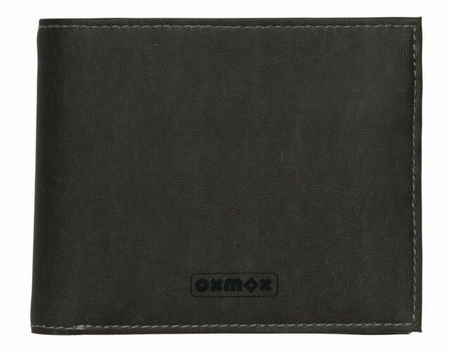 oxmox Touch-It Querscheinbörse Geldbörse Portemonnaie Grau