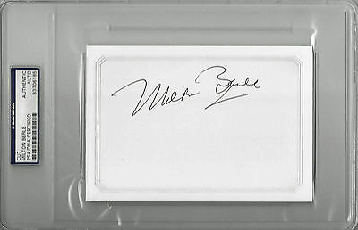 """Aggressive Milton Berle Signed 4""""x6"""" Card Uncle Miltie Psa/dna Encapsulated 83706165 To Suit The PeopleS Convenience Theater"""
