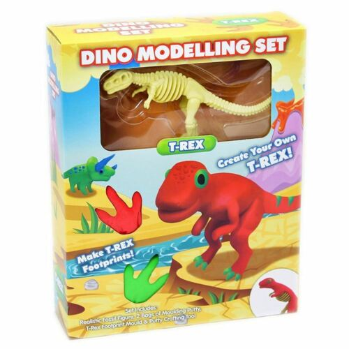 Dinosaur Modelling Playset T Rex Dino Dough Moulding Putty Craft Educational Toy