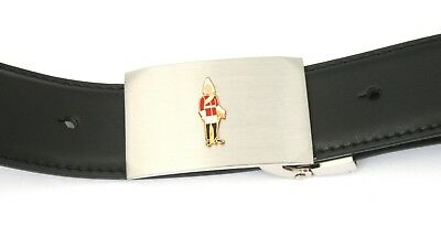 Offen Life Guard Buckle And Belt Set Black Leather Ideal Military Gift Schnelle Farbe