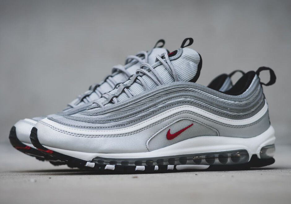 NIKE MAX 97 Argento AIR BULLET OG Tutto Nuovo di Zecca Bambini & Adulti Tg 884421-001
