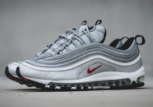 official photos 25dd9 75b7a Image is loading NIKE-AIR-MAX-97-SILVER-BULLET-OG-BRAND-
