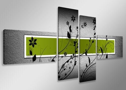 Bild 4 tlg Leinwand gerahmt 160x70cm XXL Bilder Nr 6534 sofort lieferbar