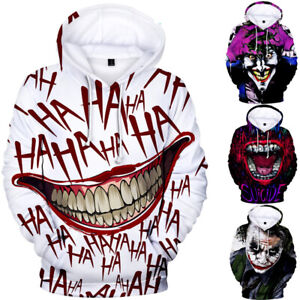 Halloween-Funny-haha-Joker-Men-women-3D-Sweatshirt-Hoodies-Hip-Hop-Dress-Tops