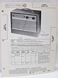 Vintage-Sams-Photofact-Folder-Radio-Parts-Manual-Knight-Model-449