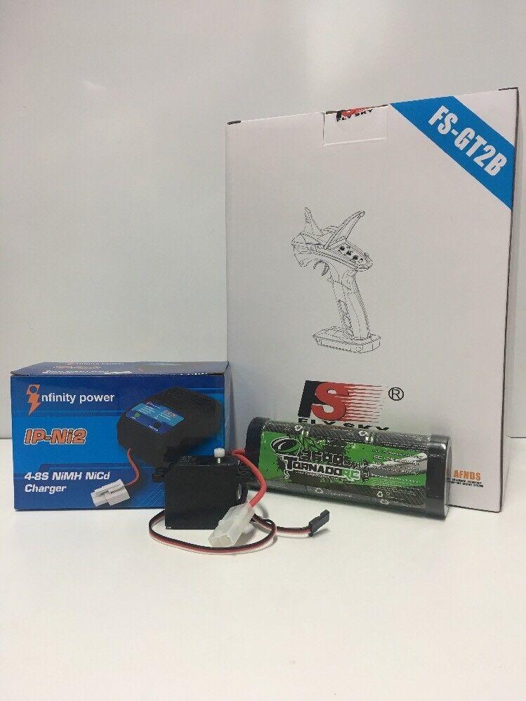 Tamiya Electronics Package   FS-GT2B Radio Battery Charger Servo Tamiya OZRC