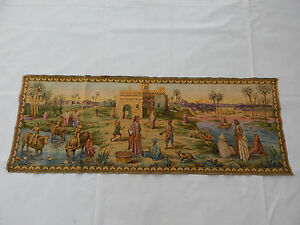 Vintage French Beautiful Scene Tapestry 138x49cm (T1029)