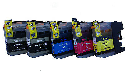 5PK  NEW LC-103 LC103XL Fit Ink  For Brother MFC-J4310-4510-470DW Show Ink Level