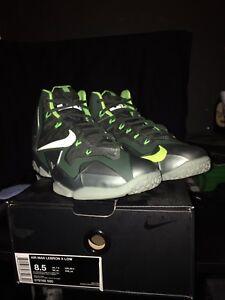 online store ad409 2e345 Image is loading Nike-Lebron-XI-11-Mica-Green-Sea-Spray-