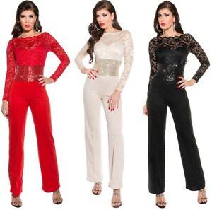 eleganter-Langarm-Overall-mit-Pailletten-Gr-S-L-Einteiler-Jumpsuit-Damen