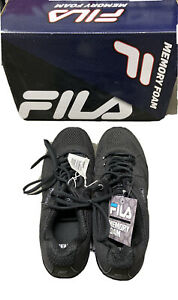 Fila-Mens-Memory-Refractive-Memory-Foam-Running-Athletic-Shoes-Blk-Size-8
