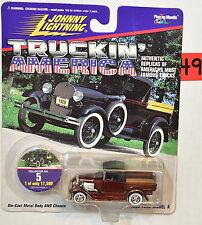 JOHNNY LIGHTNING 1997 TRUCKIN' AMERICA - BURGANDY 1929 FORD MODEL A RED