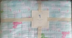Pottery Barn Kiids Wholecloth Libby Llama Twin Quilt New