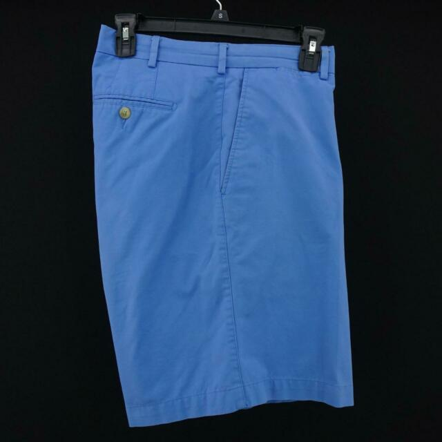 Mens Peter Millar Crown Blue Performance Flat Front Casual Golf Shorts Size 38
