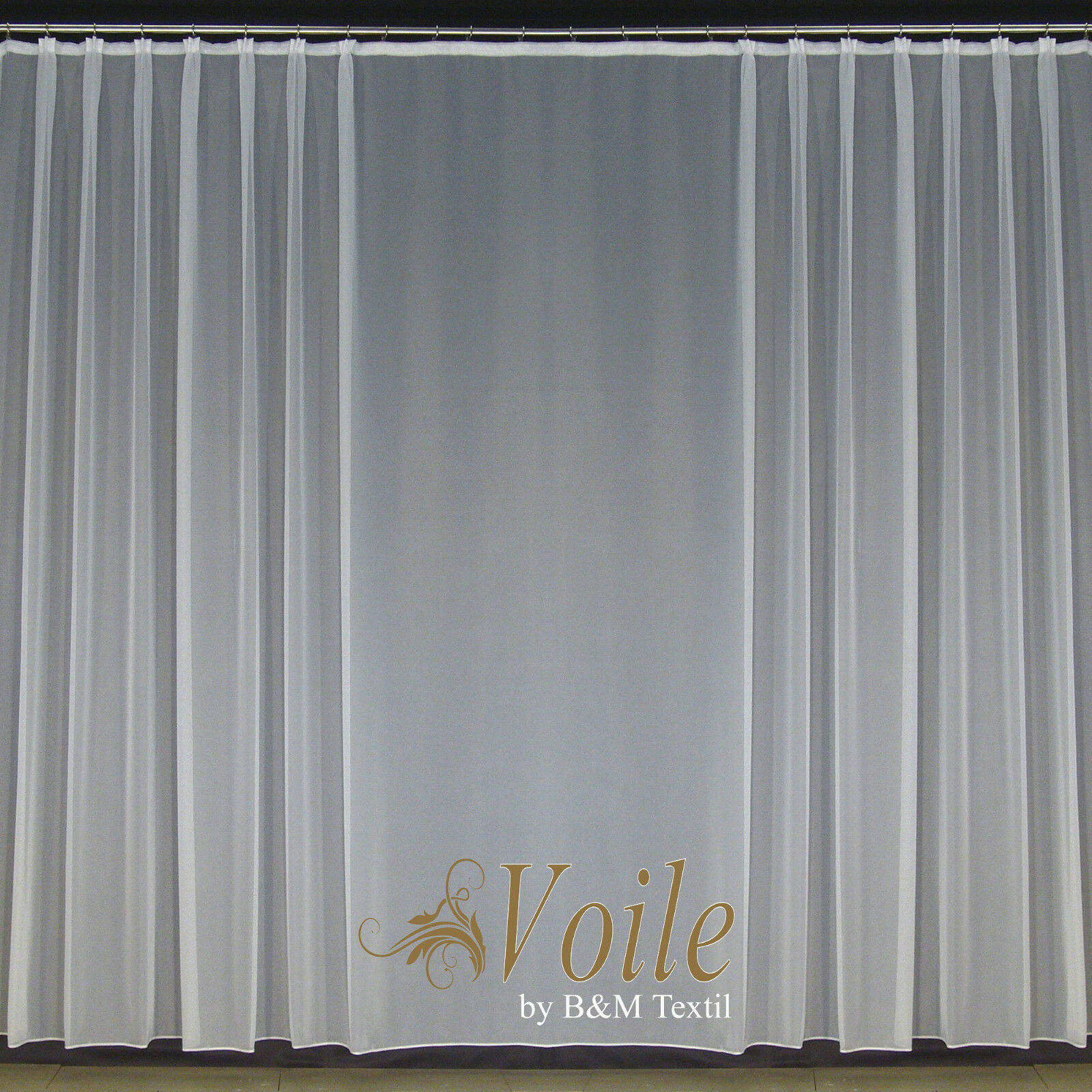 Finito di alta qualità Tenda Voile Store pieghe Nastro & Piombo nastro modello Carrara