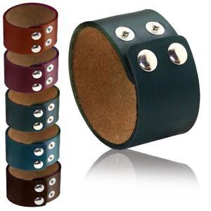 Armband-Breit-Lederarmband-Armkette-Vintage-Petrol-Braun-Beere-Gruen-Damen