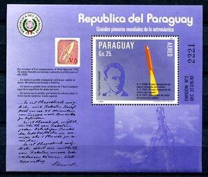 Paraguay-1984-Raumfahrt-Space-Rakete-Schmiedl-Rocket-Block-401-Postfrisch-MNH