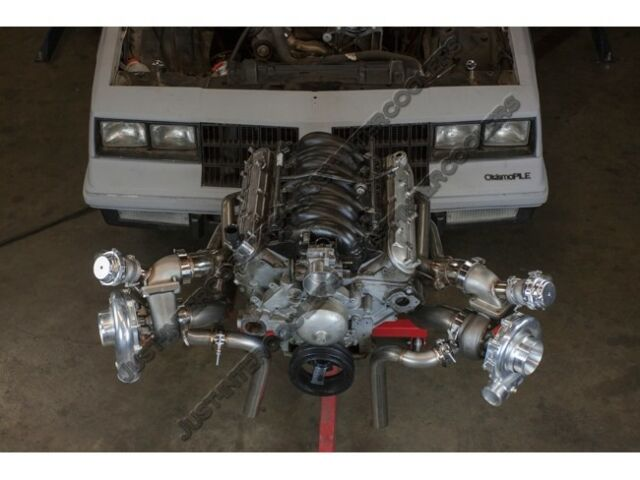 Cxracing T4 Twin Turbo Header Manifold for GM G-body Ls1 LS Monte Carlo
