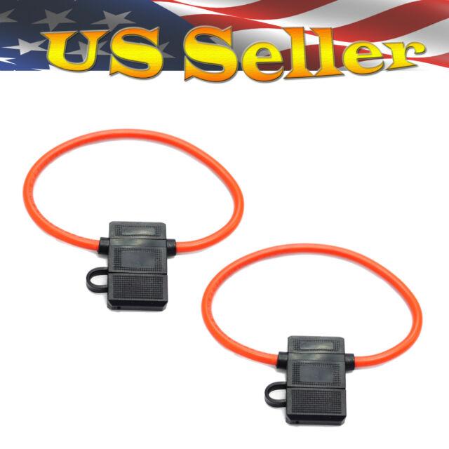 2 Pcs Atc Fuse Holder 10 Awg Gauge Inline Copper Wire 12 Volt Ebay. 2 Pcs Atc Fuse Holder 10 Awg Gauge Inline Copper Wire 12 Volt. Wiring. Wiring 12 Volt Fuse Block With Lights At Scoala.co