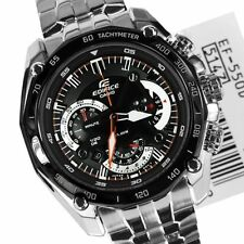 Imported Casio Edifice Men's Watch - EF550 1AV BLACK LUXURY CHRONOGRAPH
