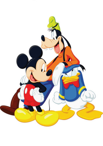 STICKERS AUTOCOLLANT TRANSPARENT POSTER A4 DISNEY MICKEY DONALD /& DINGO.