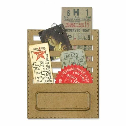 Sizzix Thinlits Die Set Cousu emplacements Set de 2Tim Holtz