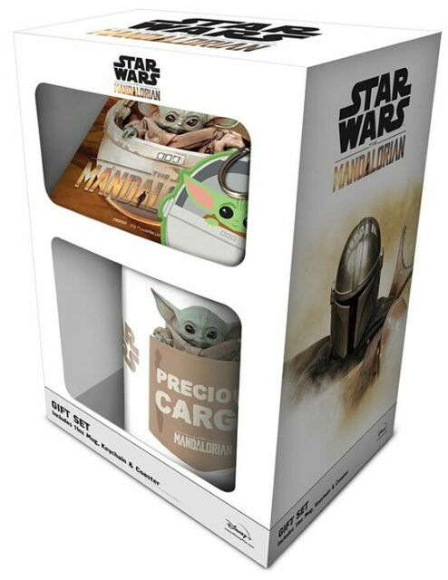 Boxed Gift Set - STAR WARS The Mandalorian THE CHILD Mug Coaster & Keychain