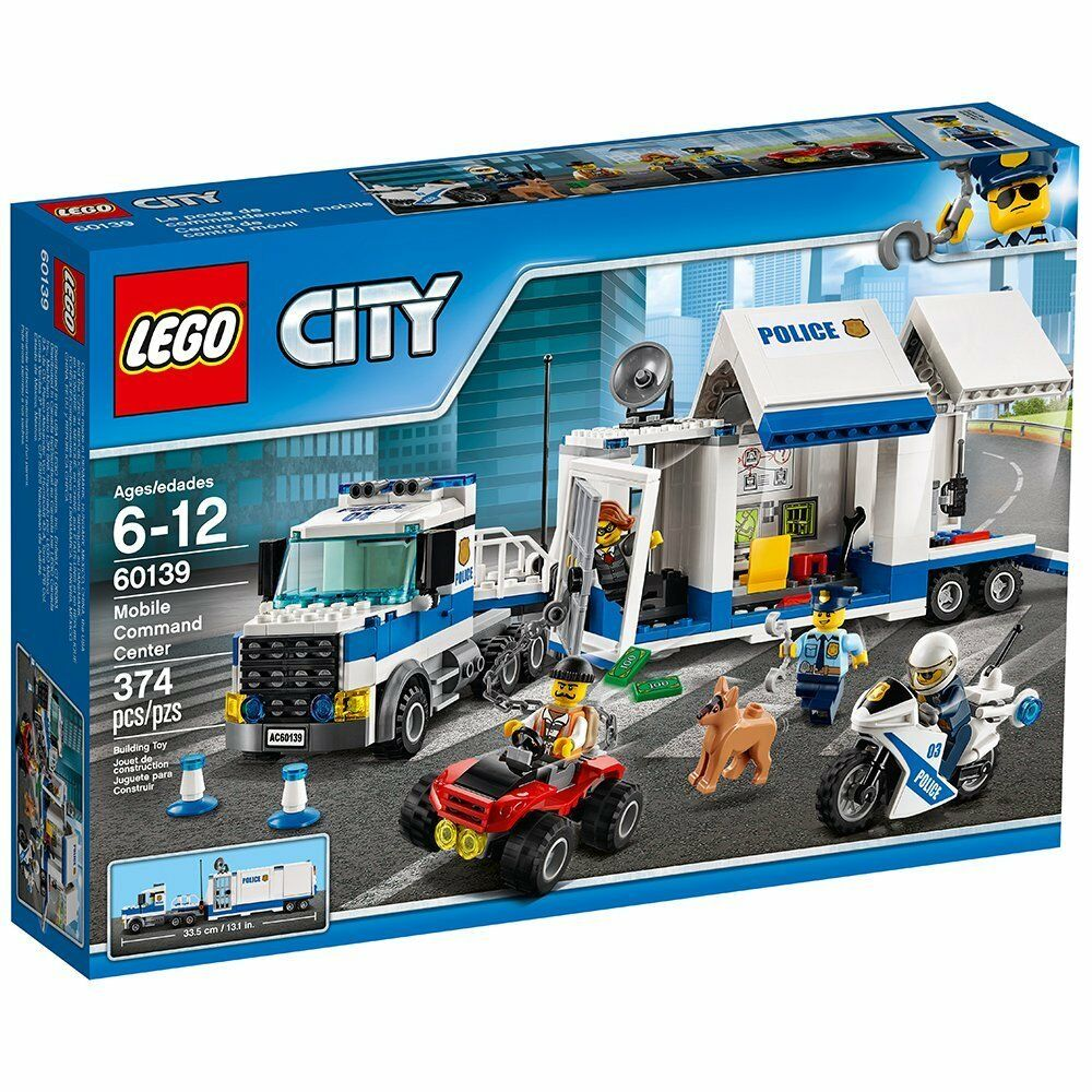 LEGO City Police Mobile Command Center 60139 Kit [Building Toys 374 Pcs] NEW
