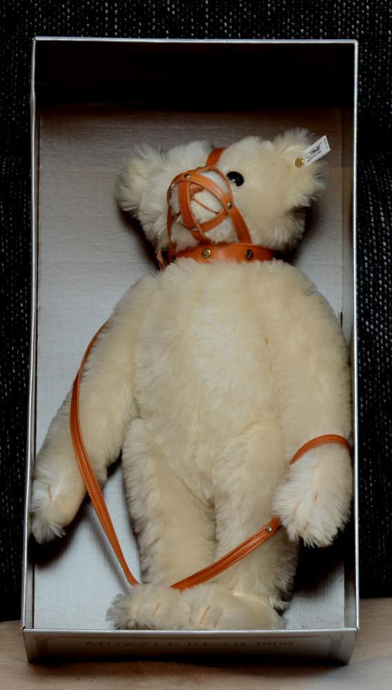 Steiff Maulkorb Bär, weiß, 46 cm