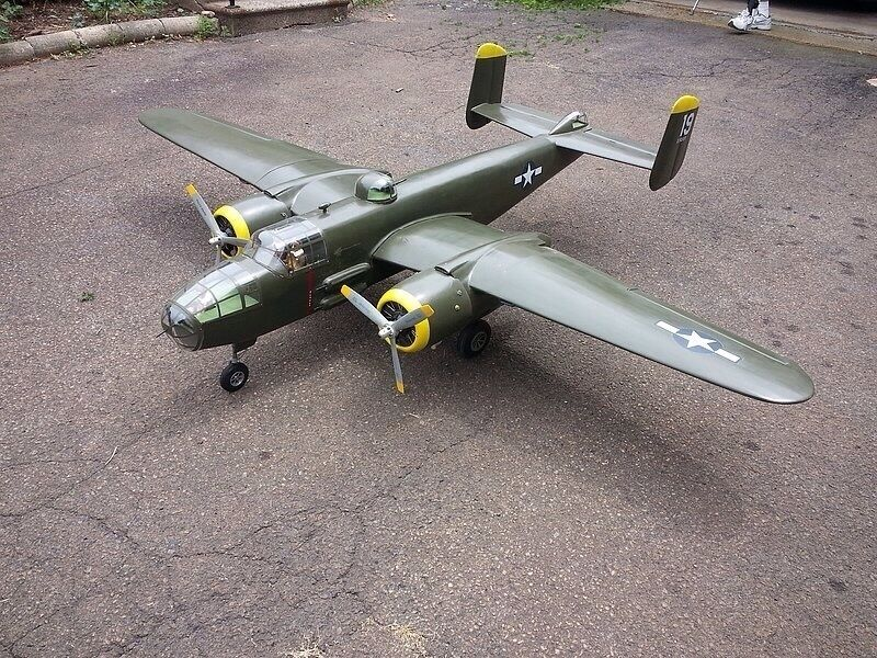 Giant 1 8 Scale b25 B-25 MITCHELL scratch build R c Plane Plans & Patterns 118