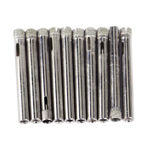 10x Fliesenbohrer Diamant Beschichtete Bohrkrone Marmor Glasbohrer Lochsäge 6mm