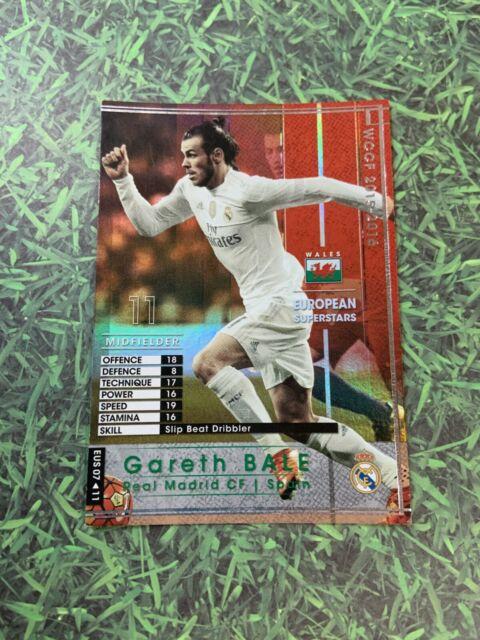 Panini WCCF 15-16 Gareth Bale Wales Real Madrid England Spain Refractor card
