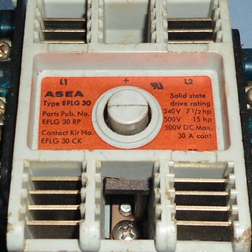 ABB ASEA 110-120V COIL 30A CONTINUOUS RATING CONTACTOR EFLG 30 *LOT OF 3* *PZF*