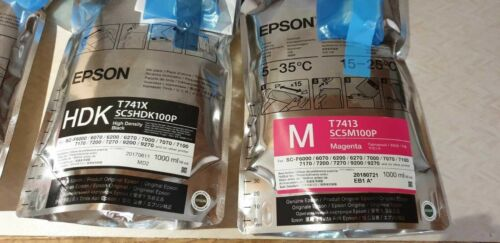 Epson UltraChrome DS Ink for SC-F Series XP2750INK 4 Colours Sublimation print
